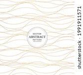 luxury hand drawn gold wavy... | Shutterstock .eps vector #1991911571