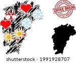 distress coffee break stamp ... | Shutterstock .eps vector #1991928707