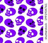 the pattern of the skull.... | Shutterstock .eps vector #1991934761