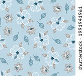 tropical floral pattern.... | Shutterstock .eps vector #1991941961