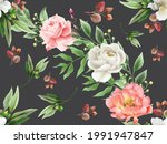 romantic and beautiful floral... | Shutterstock .eps vector #1991947847