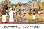 the house was destroyed by the... | Shutterstock .eps vector #1991949461