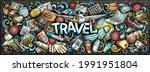 travel hand drawn cartoon... | Shutterstock .eps vector #1991951804