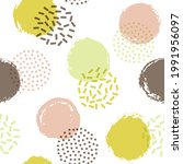 polka dot circles seamless... | Shutterstock .eps vector #1991956097