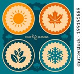 four seasons poster design.... | Shutterstock .eps vector #199195889