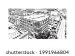 building view with landmark of...   Shutterstock .eps vector #1991966804