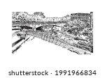 building view with landmark of...   Shutterstock .eps vector #1991966834