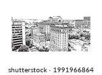 building view with landmark of...   Shutterstock .eps vector #1991966864