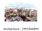 building view with landmark of...   Shutterstock .eps vector #1991966894