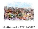 building view with landmark of...   Shutterstock .eps vector #1991966897