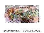 building view with landmark of...   Shutterstock .eps vector #1991966921
