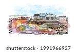 building view with landmark of...   Shutterstock .eps vector #1991966927