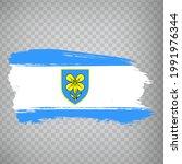 flag of lika senj county brush...