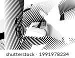 abstract halftone lines... | Shutterstock .eps vector #1991978234