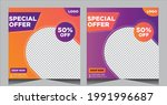 fashion sale social media post...   Shutterstock .eps vector #1991996687
