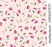 vector  flower  seamless... | Shutterstock .eps vector #1992037577