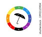 A Large Black Umbrella Symbol...