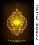 illuminated arabic lamp with... | Shutterstock .eps vector #199217531