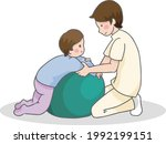 children and therapists...   Shutterstock .eps vector #1992199151