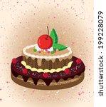 cartoon cake | Shutterstock .eps vector #199228079