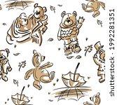 seamless pattern  set of cute... | Shutterstock .eps vector #1992281351