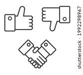 like and dislike. social media... | Shutterstock .eps vector #1992298967