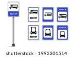 set of bus stop signs vector... | Shutterstock .eps vector #1992301514