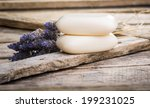 bars of soap with lavender on a ...   Shutterstock . vector #199231025