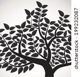vector drawing of the tree | Shutterstock .eps vector #199232087