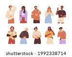 set of diverse people laughing... | Shutterstock .eps vector #1992338714