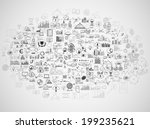 hand draw doodle elements money ... | Shutterstock .eps vector #199235621