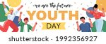 happy youth day. august 12.... | Shutterstock .eps vector #1992356927