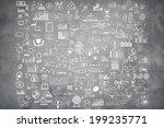 hand draw doodle elements money ... | Shutterstock . vector #199235771