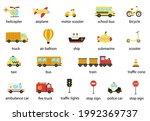 set of named transportation... | Shutterstock .eps vector #1992369737