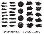 vector set grunge brush stroke...   Shutterstock .eps vector #1992386297