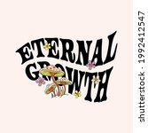 70's retro groovy slogan print... | Shutterstock .eps vector #1992412547