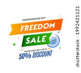 independence day sale in india...   Shutterstock .eps vector #1992421121