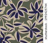 green floral brush strokes...   Shutterstock .eps vector #1992425744