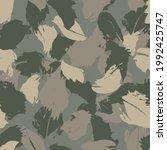 green floral brush strokes...   Shutterstock .eps vector #1992425747