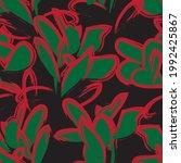 christmas floral brush strokes...   Shutterstock .eps vector #1992425867