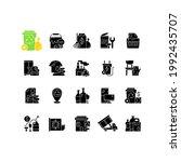 waste management black glyph...   Shutterstock .eps vector #1992435707