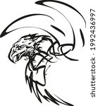 eagle concept in black and... | Shutterstock .eps vector #1992436997
