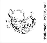 diwali diya pen ink style...   Shutterstock .eps vector #1992452504