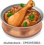 vector illustration of chicken... | Shutterstock .eps vector #1992452801