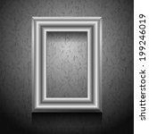 vector golden picture frame on... | Shutterstock .eps vector #199246019
