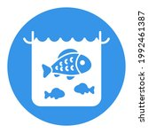 fish in a pond or aquarium... | Shutterstock .eps vector #1992461387