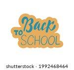 back to school creative banner...   Shutterstock .eps vector #1992468464