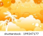 tropical background  | Shutterstock .eps vector #199247177