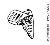 doodle hand drawn tacos.hand... | Shutterstock .eps vector #1992473231