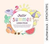 hello  summer banner template...   Shutterstock .eps vector #1992476591